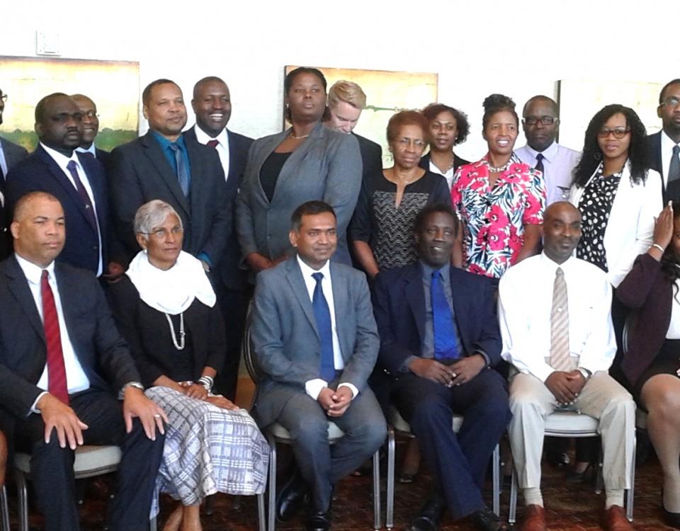 CARICOM representatives at the Consultation