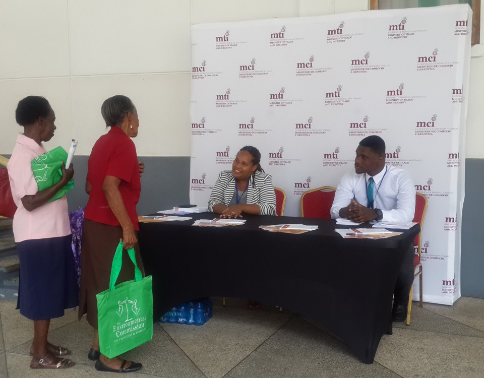 TTBizLink staff interacts with members of the public