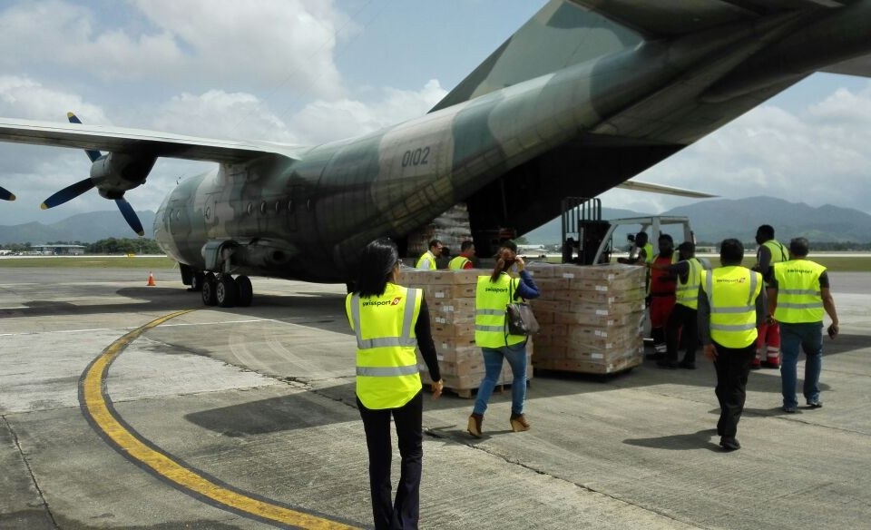 VEMCO's products being loaded onto the aircraft