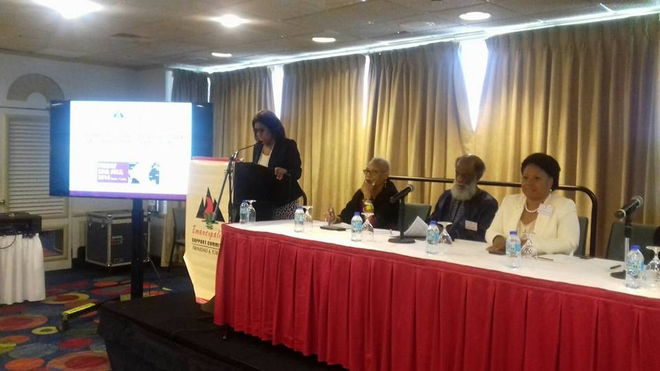 Senator the Honorable Paula Gopee-Scoon, Minister of Trade and Industry delivers an Address to officially launch the Emancipation Support Committee's 16th Annual Trans-Atlantic Trade and Investment Symposium,