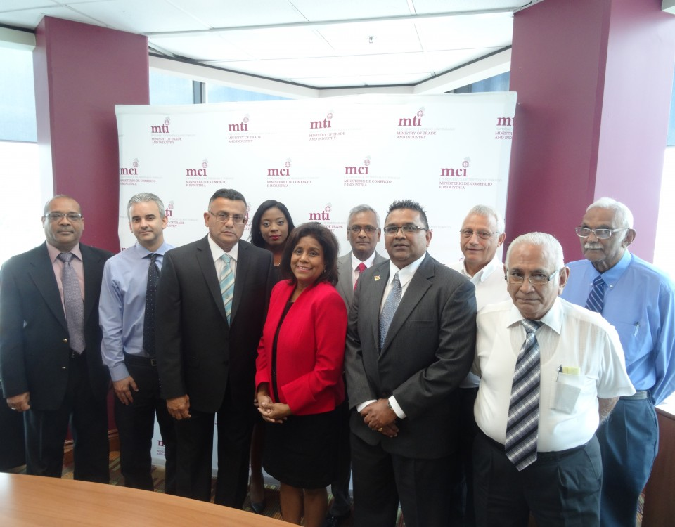 Minister Paula Gopee-Scoon (centre) with members of the newly appointed Board