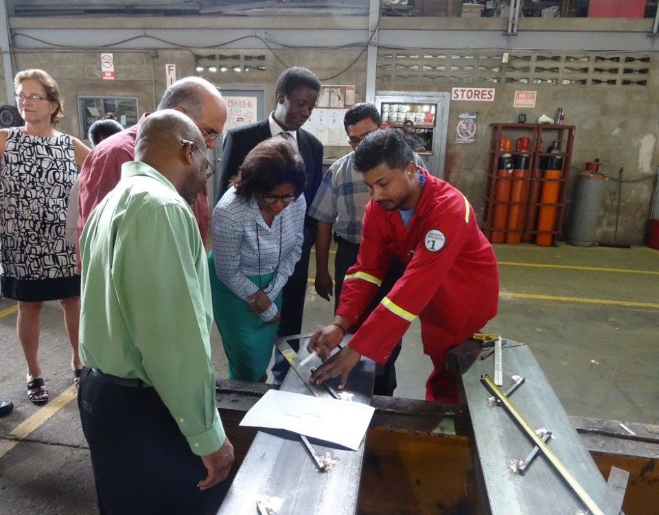 Minister of Trade and Industry on tour of Metal X Industries facilities
