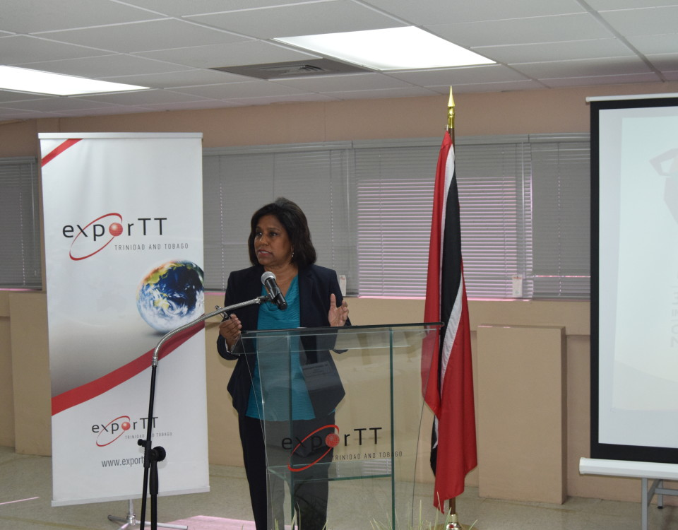 Trade Minister addresses delegates during the briefing session