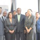 Senator the Honourable Paula Gopee-Scoon, Minister of Trade and Industry and  His Excellency Orville London, High Commissioner of the Republic of Trinidad and Tobago to London  (front row) flanked by the Ministry's Executive Management team