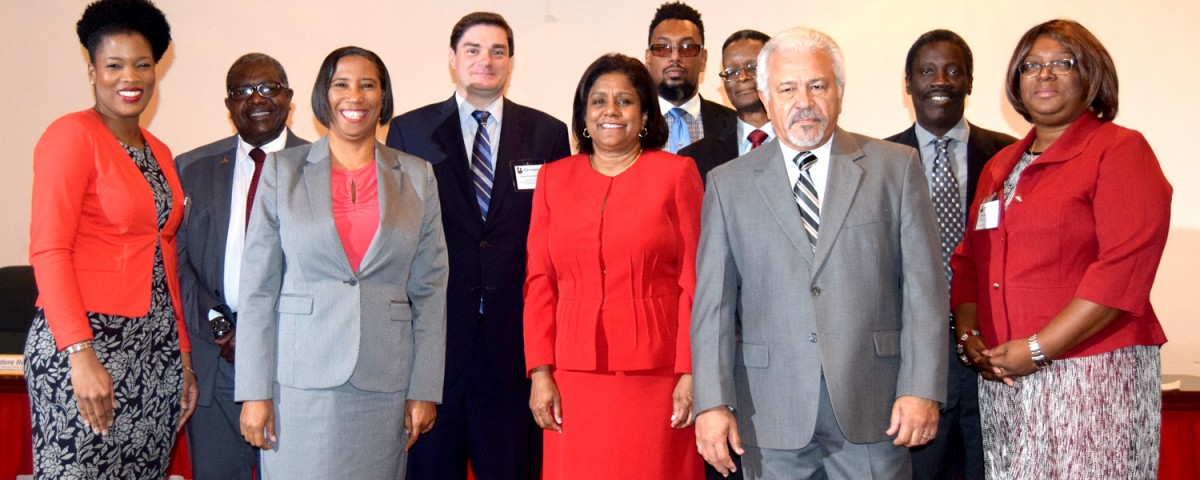 Senator the Honourable Paula Gopee-Scoon with members of the Board of Directors of Trinidad & Tobago Bureau of Standards - TTBS
