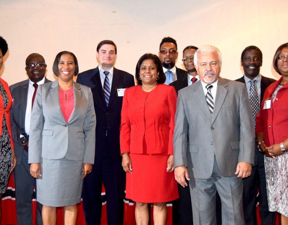 Senator the Honourable Paula Gopee-Scoon with members of the Board of Directors of Trinidad & Tobago Bureau of Standards - TTBS