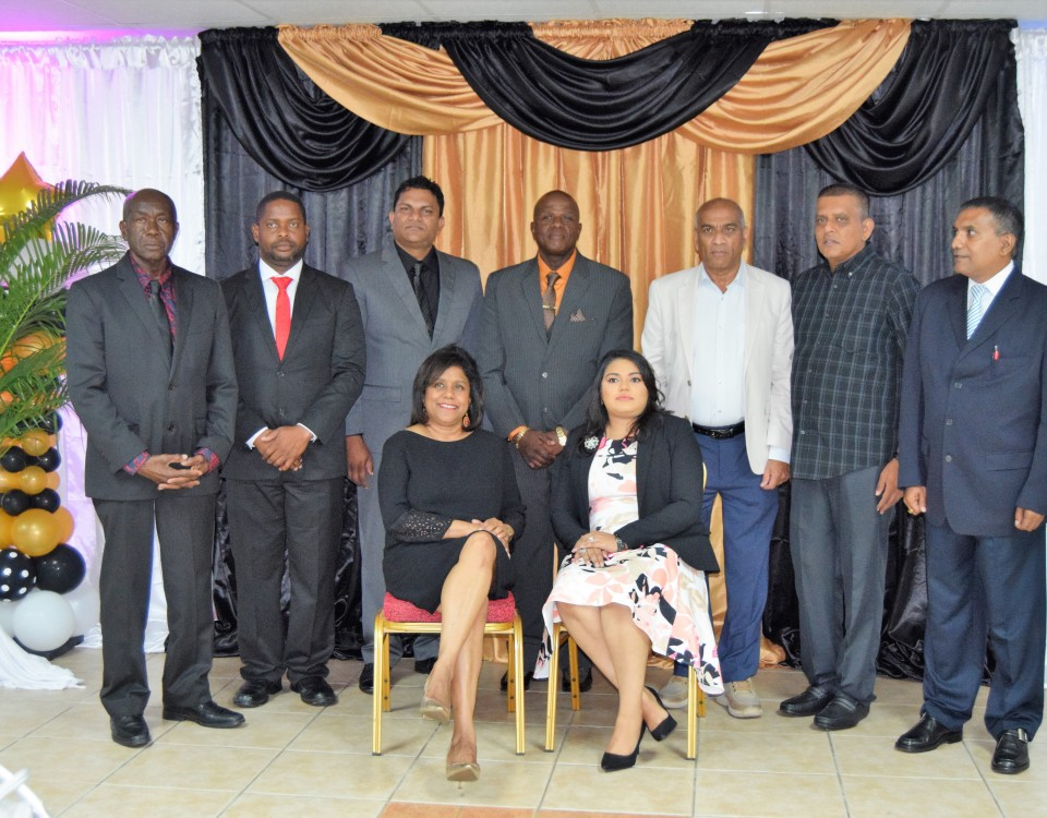 Minister of Trade and Industry Senator the Honourable Paula Gopee-Scoon (seated) with members of the new Gasparillo Chamber of Commerce