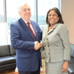 Trade and Industry Minister welcomes newly appointed Ambassador of the Republic of Chile His Excellency Aníbal Barría Garcua to Trinidad and Tobago.