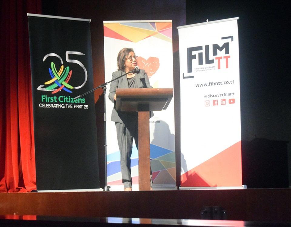 Senator the Honourable Paula Gopee-Scoon, Minister of Trade and Industry delivers the Feature Address at the Official Launch of Animae Caribe 2018