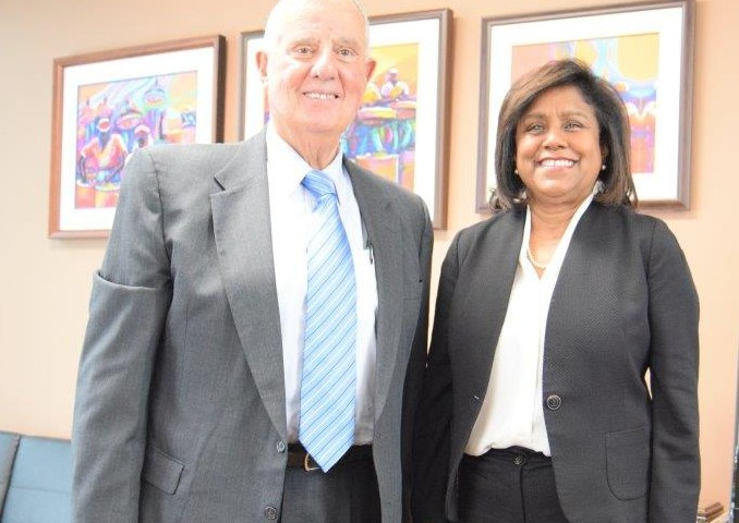 Trade and Industry Minister Senator the Honourable Paula Gopee-Scoon and United States Ambassador Joseph Mondello following discussions.
