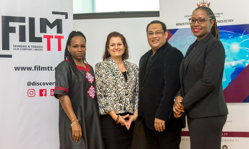 (L-R) Ms Dionne Mc Nicol Stephenson, Chairman, Ms Lorraine O'Connor Director, Mr. Richard Chin Fatt, Director and Ms Nneka Luke, General Manager of FilmTT