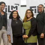 Staff of FilmTT: (L-R) Ms Afya Greene - Project Officer, Ms. Regina Seaburn - Facilitation Officer, Ms. Josanne Hackshaw - Project Officer and Ms Nneka Luke - General Manager