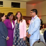l-r AMCHAM T&T President Patricia Ghany, Trade and Industry Minister Senator the Honourable Paula Gopee-Scoon, Suzy Teele and AMCHAM T&T Chief Executive Officer Mr Nirad Tewarie at AMCHAM's 2019 Women's Leadership Conference.